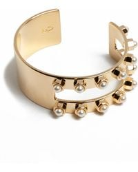 Mfp- Mariafrancescapepe Cuff with Studded Pearls - Lyst