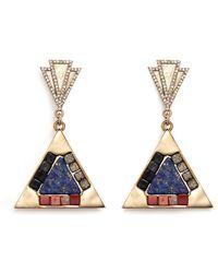 Lulu Frost 'Petra' Crystal Pavé Stone Mosaic Drop Earrings multicolor - Lyst