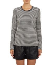 ATM Stripe Rawedge Tshirt - Lyst