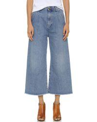 Rodebjer - Mina Wide Leg Jeans - Vintage Blue - Lyst