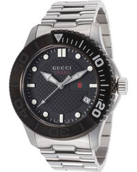Gucci Men'S G-Timeless Stainless Steel Black Dial - Lyst