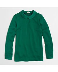 J.Crew Factory Peter Pan Collar Blouse - Lyst