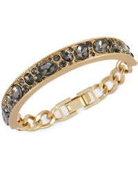 Kenneth Cole Goldtone Crystal Accent Id Bracelet - Lyst