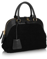 Burberry Prorsum - Medium Shearling And Leather Tote - Lyst