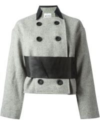 Atto Double Breasted Coat - Lyst