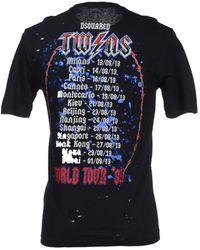 DSquared² T-Shirt black - Lyst