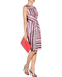 Prabal Gurung Printed Sheath with Asymmetric Draped Inserts - Lyst