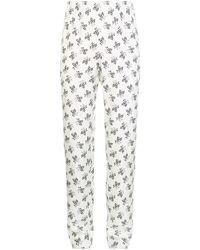 Dolce & Gabbana - Floral Print Silk Pyjama Trousers - Lyst