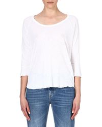 James Perse Linenblend Top White - Lyst