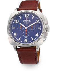 Shinola Brakeman Chronograph Stainless Steel Watch - Lyst