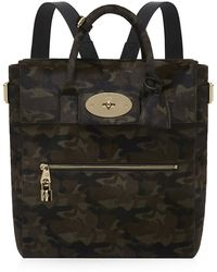 Mulberry Large Cara Delevingne Camouflage Haircalf Bag - Lyst