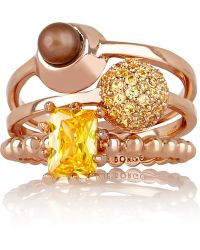 Eddie Borgo - Collage Set Of Three Rose Gold-plated - Lyst