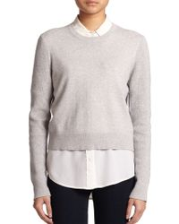 Equipment Shirley Cotton & Cashmere Sweater - Lyst
