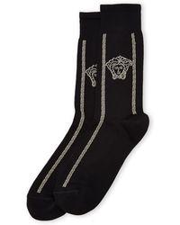 Versace Medusa Key Logo Socks - Lyst