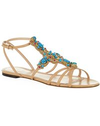 Charlotte Olympia 'Phoenix' Gemstone Appliqué Leather Sandals multicolor - Lyst