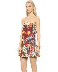 Just Cavalli Floral Mini Dress  - Lyst