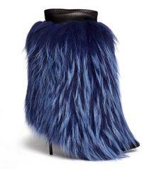 Giuseppe Zanotti Yvette Fur Leather Trim Suede Stiletto Boots - Lyst