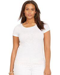 Ralph Lauren Cotton Short-Sleeved Tee white - Lyst