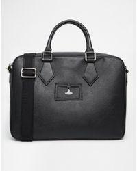 Vivienne Westwood Leather Document Bag - Lyst
