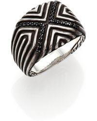 John Hardy Bedeg Sterling Silver & Black Sapphire Ring - Lyst