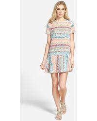 Amour Vert 'Flora' Short Sleeve Flippy Dress - Lyst