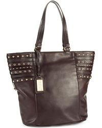 Badgley Mischka Stud Accented Tote Bag - Lyst