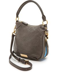 Marc By Marc Jacobs Washed Up Mini Billy Hobo Bag  Faded Aluminum - Lyst