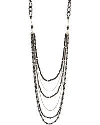 Nakamol - Long Layered Crystal Necklace - Lyst