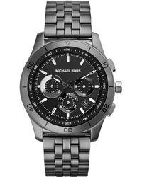 Michael Kors Mens Chronograph Outrigger Gunmetaltone Stainless Steel Bracelet Watch 43mm - Lyst