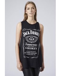 Topshop Jack Daniels Tank by and Finally  Black - Lyst