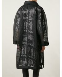 KTZ - Oversized Mesh Coat - Lyst