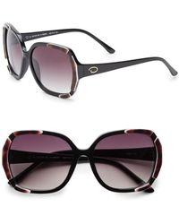 Oscar de la Renta - 59mm Round Oversized Sunglasses - Lyst