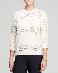 Tory Burch Leona Open Knit Sweater - Lyst