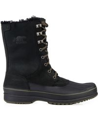 Sorel Kitchener Frost Nubuck and Rubber Boots - Lyst