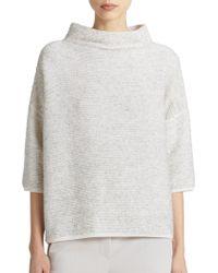 Max Mara Tione Funnel-Neck Knit Top gray - Lyst