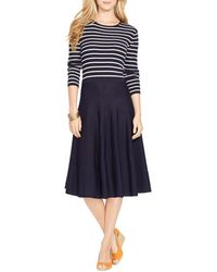 Ralph Lauren Lauren Merino Wool Knit Dress - Lyst