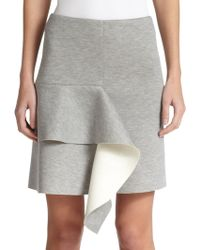 Marni Bicolor Bonded Jersey Skirt gray - Lyst