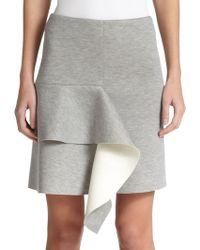 Marni Bicolor Bonded Jersey Skirt gray - Lyst