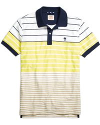 Brooks Brothers Variegated Stripe Polo Shirt - Lyst