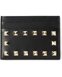 Valentino 'Rockstud' Card Holder - Lyst