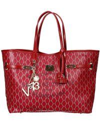 V73 Handbag Bag Miami Shopping Canvas Coated Medium - Lyst