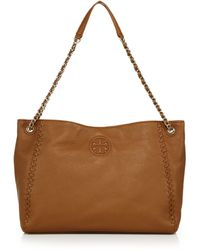 Tory Burch | Marion Leather Chain Shoulder Bag | Lyst