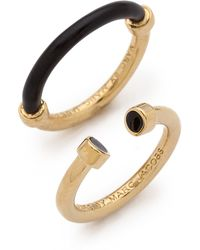 Marc By Marc Jacobs Hula Hoop Ring Set Black - Lyst