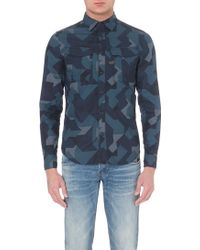 G-star Raw Camouflage-Print Shirt - For Men - Lyst