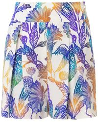 Matthew Williamson Escape Woodcut-Print Silk Shorts - Lyst