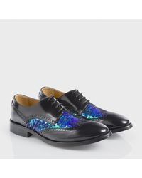 Paul Smith Black Leather Sequinned Jodie Brogues - Lyst