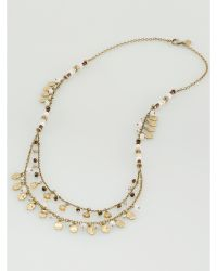 Ralph Lauren Multi-Charm Necklace gold - Lyst