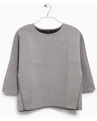 Mango Neoprene-effect Sweatshirt - Lyst