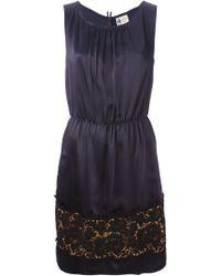 Lanvin Lace Hem Dress - Lyst