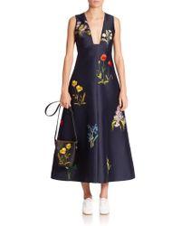 Stella McCartney | Kaitlyn Botanical Embroidered Dress | Lyst